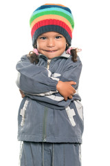 Cute and adorable multiracial little girl