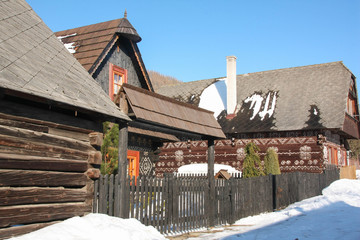 Cicmany folk architecture Slovakia