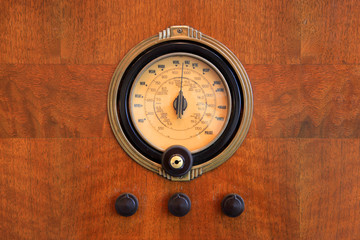 Old an unique meter on wooden wall
