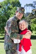 Soldier reunited with his mother - 78770469