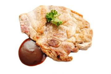 Gourmet Cooked Pork Chop with Dippibg Sauce