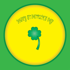 colorful background with  and shamrock font