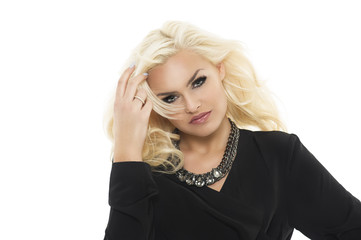 Gorgeous elegant blond woman