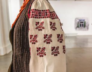 KIEV, UKRAINE - FEBRUARY 17, 2015: Exhibition of national clothe
