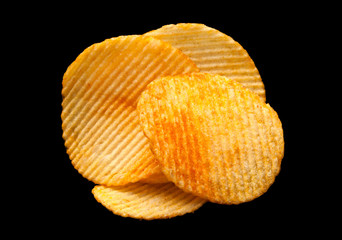 Ripple chips on black