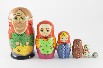 Nesting Dolls on the fairy tale The Turnip