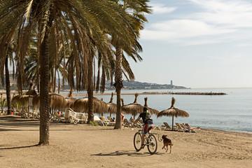 Playa Caleta en Málaga.