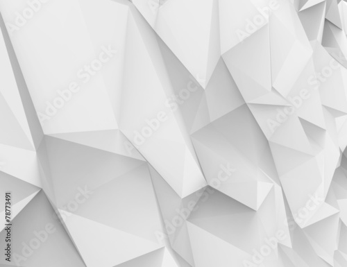 Abstract white 3d background with polygonal pattern - 78773491