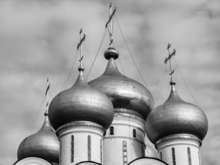 Russia, Moscow, russian church domes