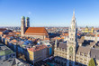 Leinwanddruck Bild - The Frauenkirche is a church in the Bavarian city of Munich