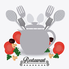 Restaurant design, vector illustration.