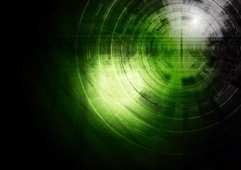Dark green technology background