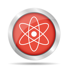 abstract physics science model icon, vector illustration.