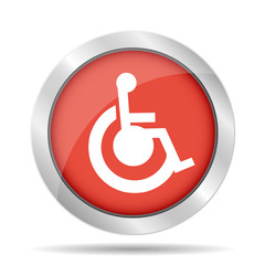 cripple Flat red Simple Icon