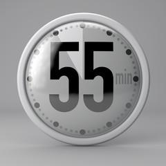 Tempo, orologio, timer, cronometro, 55 minuti