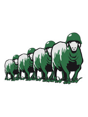 SHEEP marching soldiers peace stahlhelm