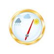 Barometer measuring indicates sunny weather. Vector illustration - 78775431
