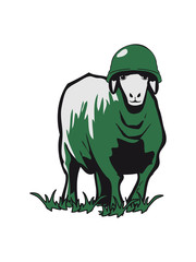 SHEEP soldier peace stahlhelm