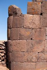 one tower of Sillustani(side view), Lake Umayo, near Puno, Peru