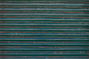 An Old galvanized green steel -