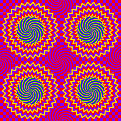 Hypnotic seamless pattern