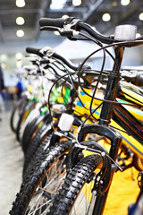 Sport bikes on bicycle parking