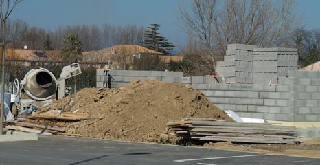 Parpaings, construction