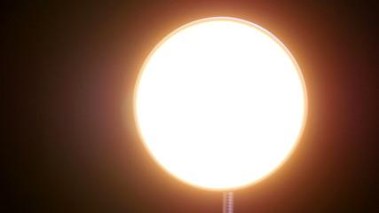 Floor luminescence lamp. 4K UHD footage