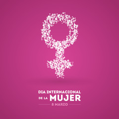 International Women's Day. March 8. Spanish