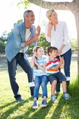 Happy family swing