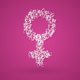 Female gender symbol poster
