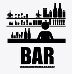 bar, design, vector illustration.