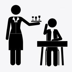 Waiter design, vector illustration