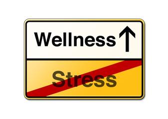 Wellness Stress Schild