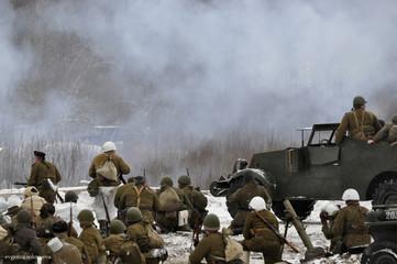 война, зима, сражение, военная битва