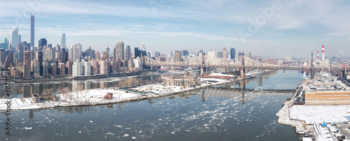 New York City in Winter, panoramic image