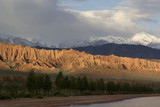 Issyk-Kul lake in the evening. Kyrgyzstan, Central Asia