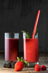 Healthy red Smoothie