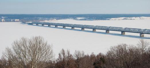 Imperial Bridge over the Volga River in Ulyanovsk