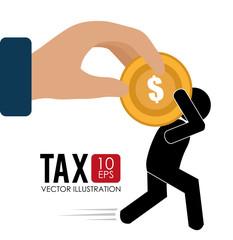 Tax design, vector illustration.