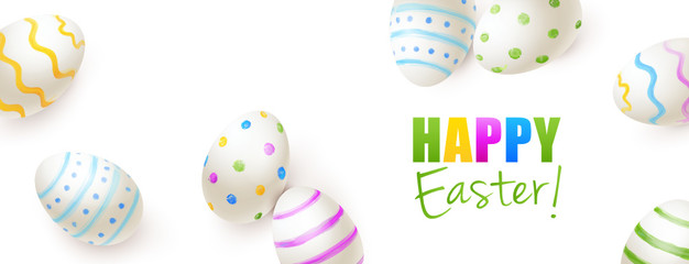Bemalte Ostereier  - Happy Easter
