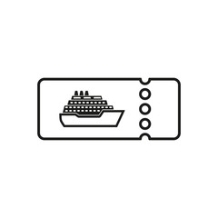 The cruise ship tickets icon. Travel symbol.
