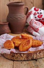 Fried fresh tasty pasties