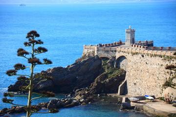 Toscana,Piombino, terrazza sul mare.