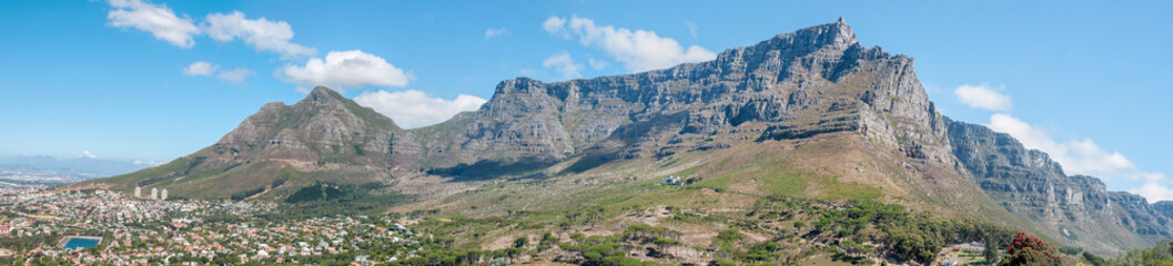 Panorama of Table Mountain and part of Cape Town