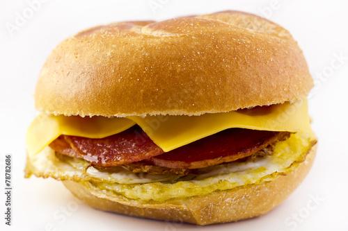 Fotobehang Snack Taylor Ham Breakfast Sandwich