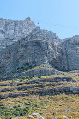 View of Table Mountain and upper cable station