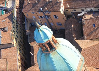Bologna, the dome of the temple