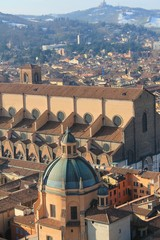 Bologna, panorama view of the center
