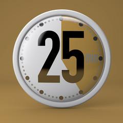 Tempo, orologio, timer, cronometro, 25 minuti